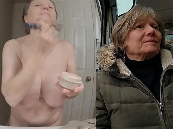 Sexy Grandma Up Close and Personal