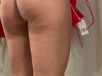 Undressing in Zara changing Room