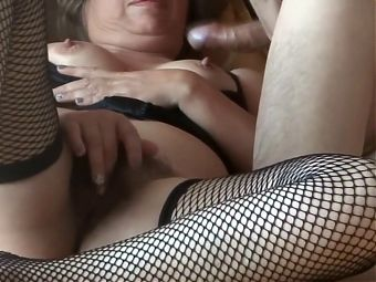 First time my wife enjoying her bosss cock and cum on ass