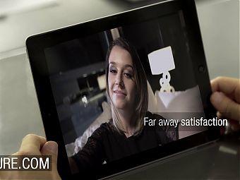 Cara Saint-Germain has webcam sex for husband with stranger