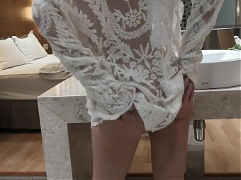 YukiYi bend over to get tight pussy wet and horny for you
