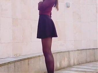 My short skirt great in public