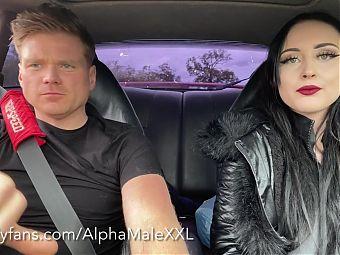 Driving Babestation girl Ellie Louise Home