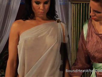 Horny Voyeur Mistress Moans And Orgasms Peeking On Slaves