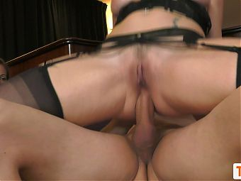 Mya Lorenn gets fucked in the ass in front of her friend