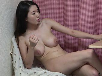 Naked Japanese Girl Hikari with Natural Big Tits