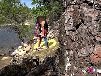 VOYEUR FUCK: Filming an amateur couple outdoors!
